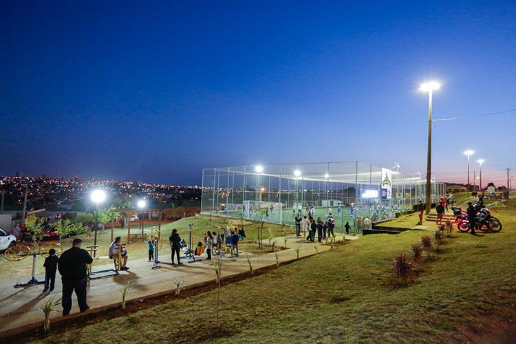 Parque Nossa Senhora das Graças e Jardim Maracanã receberam o investimento no último final de semana que chega a quase meio milhão de reais